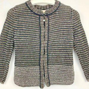 Ann Taylor Loft Womens Sweater Jacket Black XSP